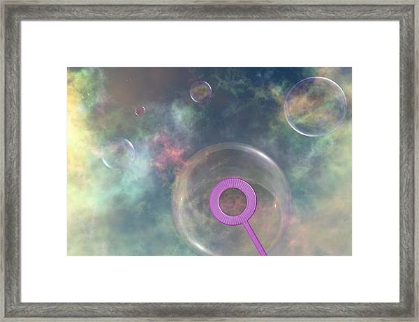 Iridescent Meandering Framed Print
