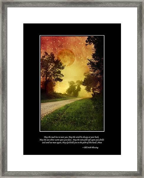 Irish Blessing Poster Art Framed Print