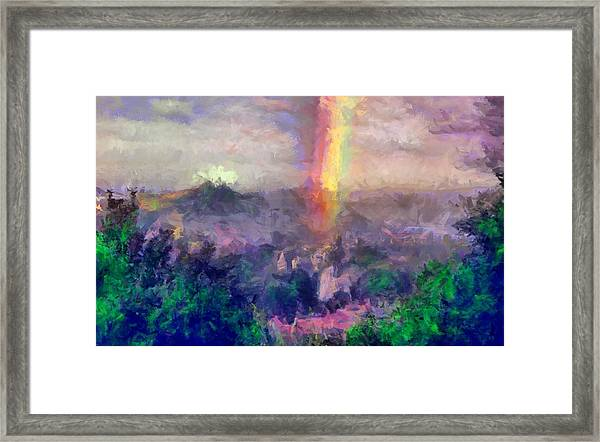 Irish Rainbow Framed Print