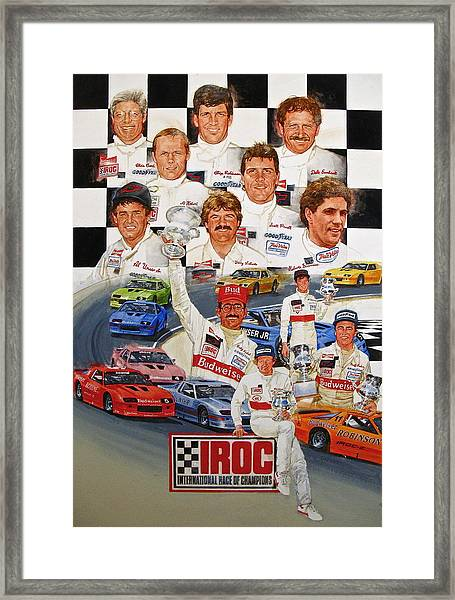 Iroc Racing Framed Print