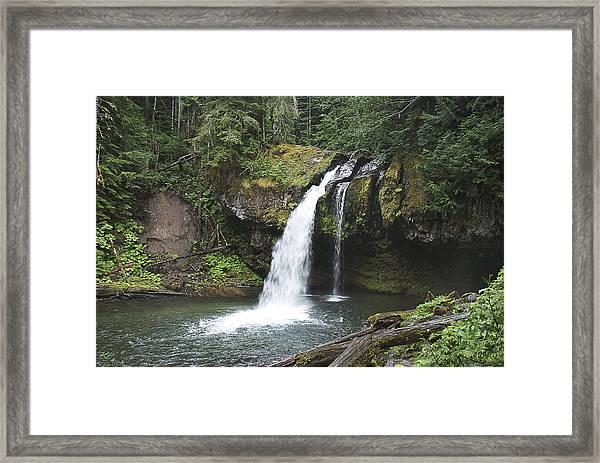 Iron Creek Falls Framed Print