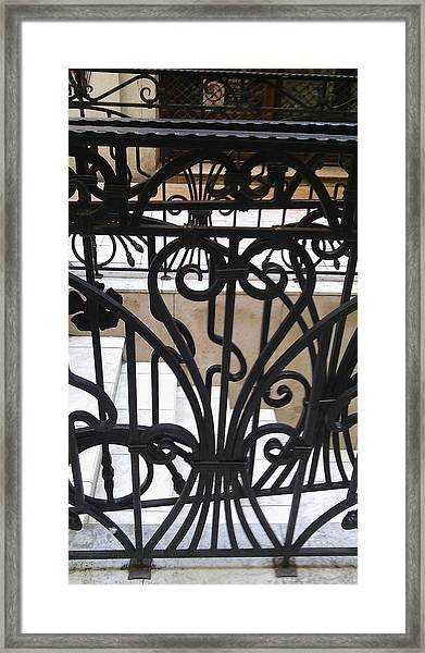 Iron Decorative Heart Framed Print