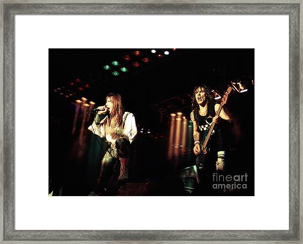 Iron Maiden 1987 Bruce And Steve Framed Print