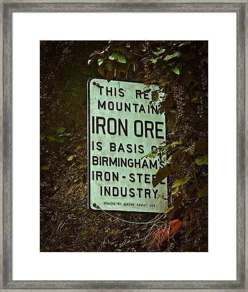 Iron Ore Seam Framed Print