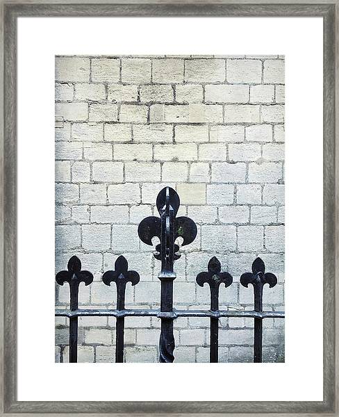 Iron Railings Detail  Framed Print