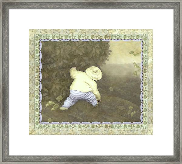 Is Bunny In Bushes? Framed Print