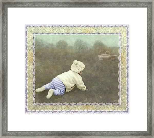 Is Bunny In The Basket? Framed Print