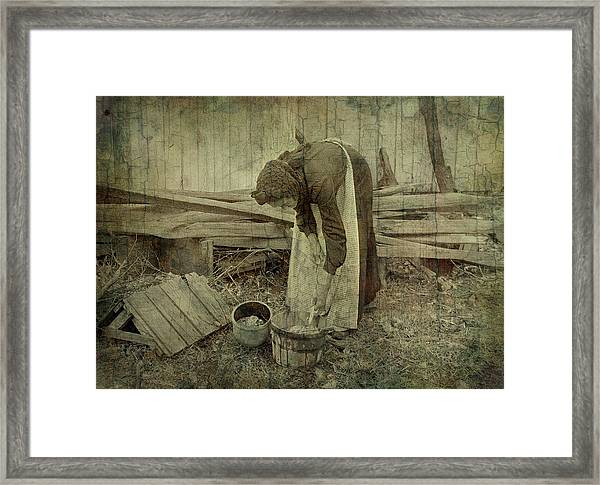Is Never Done Framed Print