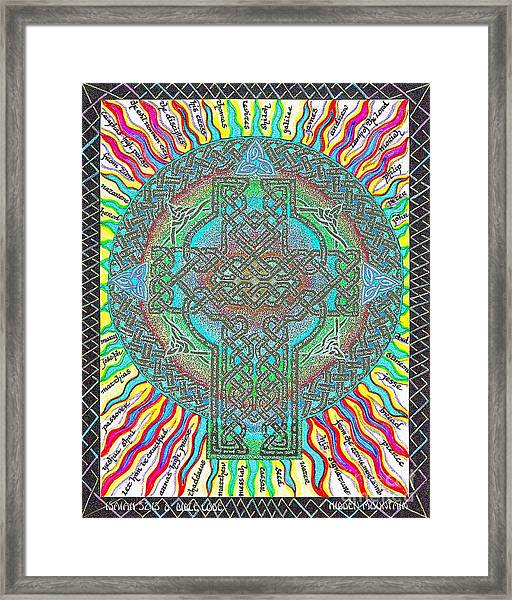 Isaiah Bible Code Framed Print