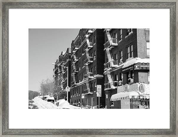Isham Street Winter Framed Print