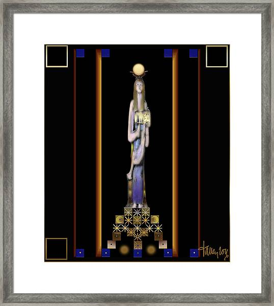 Framed Print featuring the digital art Isis Suckling Horus by Larry Talley