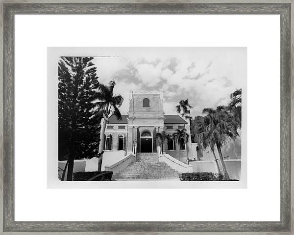 Island Church  Framed Print