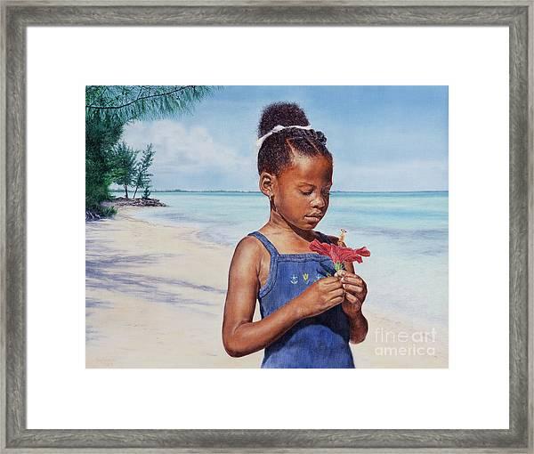 Island Flowers Framed Print