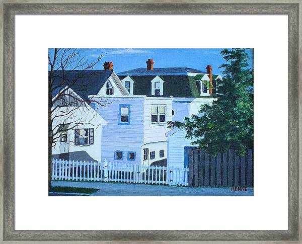 Island Heights Back Yards Framed Print