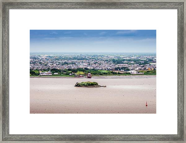 Island In The River Framed Print