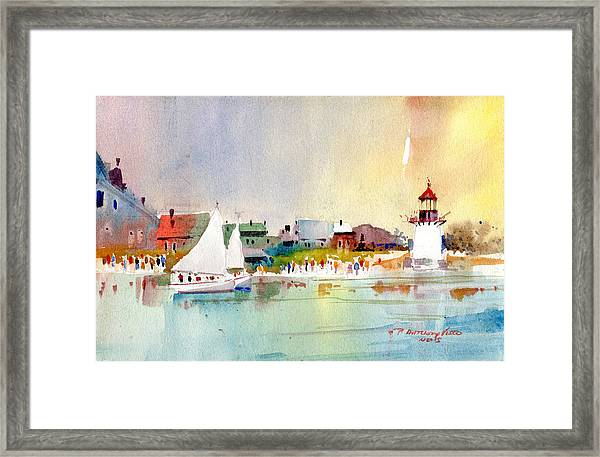 Island Light Framed Print