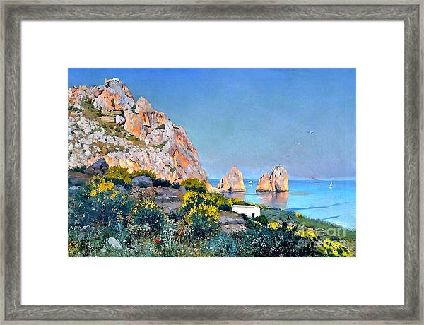 Island Of Capri - Gulf Of Naples Framed Print