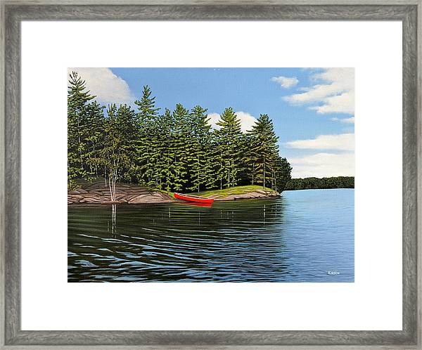 Island Retreat Framed Print