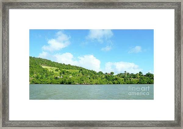 Island View Framed Print