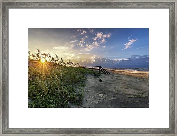 Isle Of Palms Sunstar Framed Print