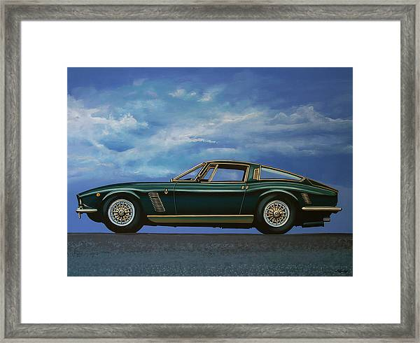 Iso Grifo Gl 1963 Painting Framed Print