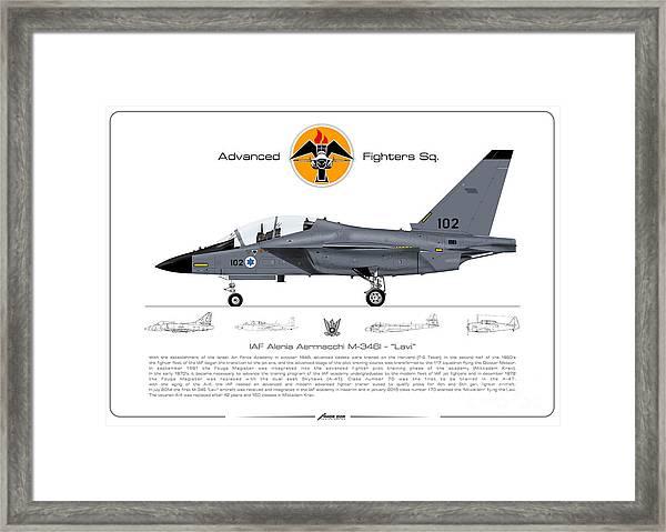 Israeli Air Force Advanced Fighters Sqd. M-346 Lavi  Framed Print