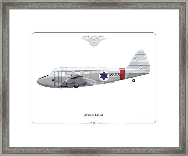 Israeli Air Force Airspeed Consul #2808 Framed Print