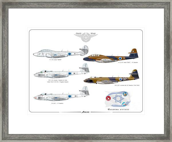Israeli Air Force All Times Gloster Meteors Framed Print
