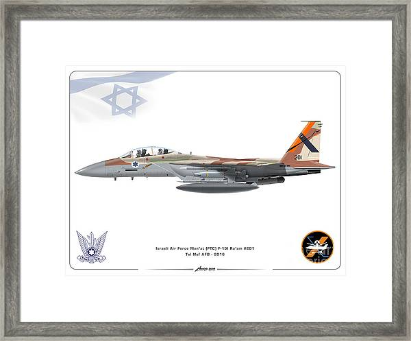 Israeli Air Force F 15i Ra'am - Ftc Framed Print