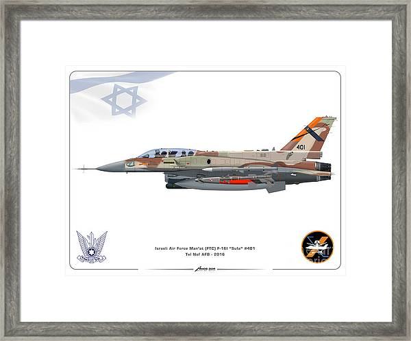 Israeli Air Force F-16i Sufa - Ftc Framed Print
