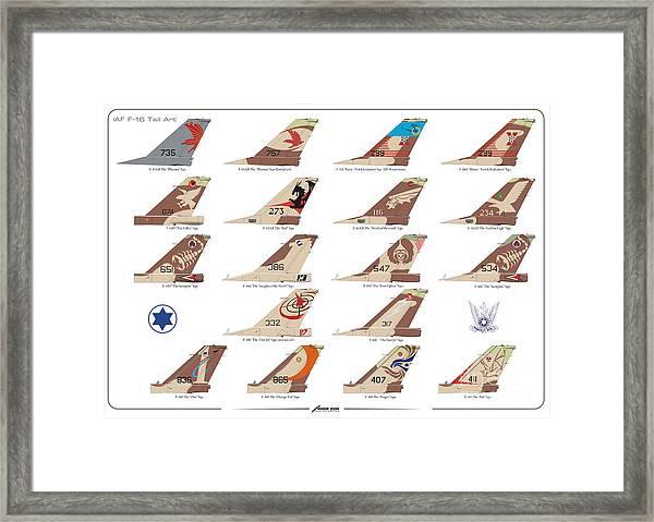 Israeli Air Force F-16's Tail Art Framed Print