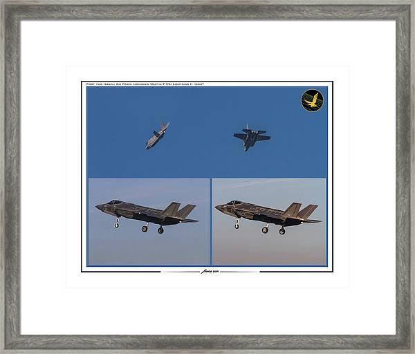 Israeli Air Force First Two F-35i Adir Framed Print