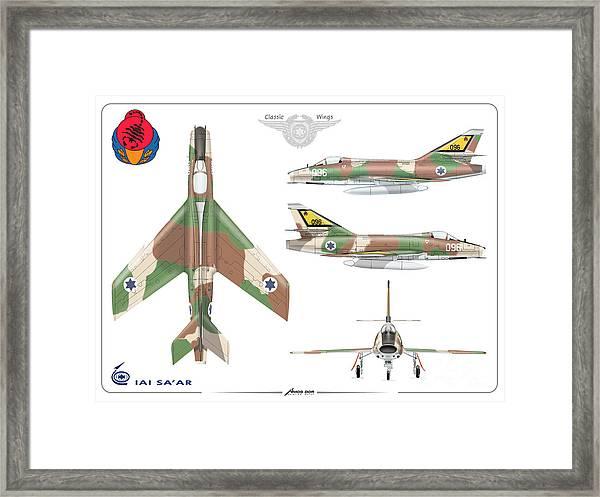 Israeli Air Force Iai Super Mystere Sa'ar Framed Print