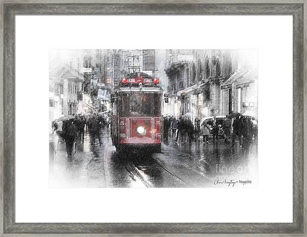 Istambool Historic Tram Framed Print