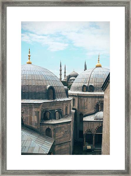 Framed Print featuring the photograph Istanbul Mosque by Daniel Burka