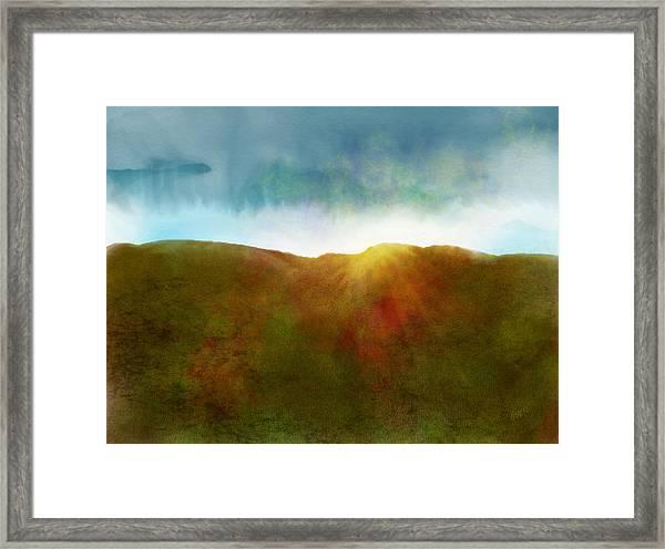 Framed Print featuring the digital art It Began To Dawn by Antonio Romero