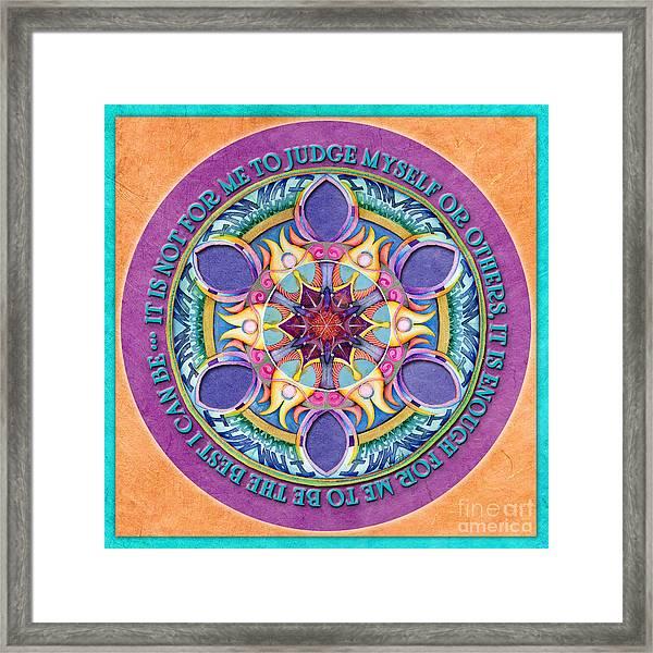 It Is Enough Mandala Prayer Framed Print