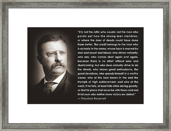 It Is Not The Critic Framed Print
