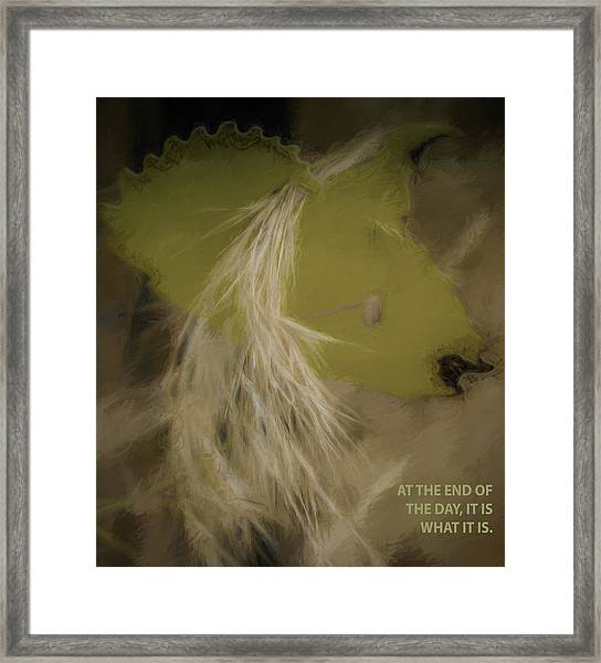 It Is What It Is Framed Print