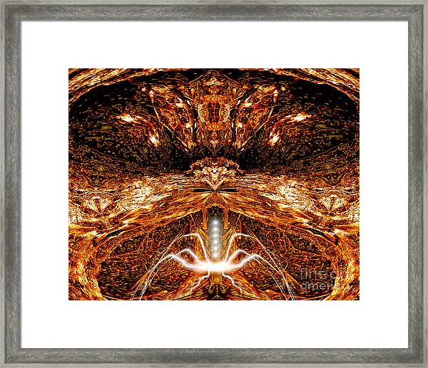 It Lurks There Framed Print