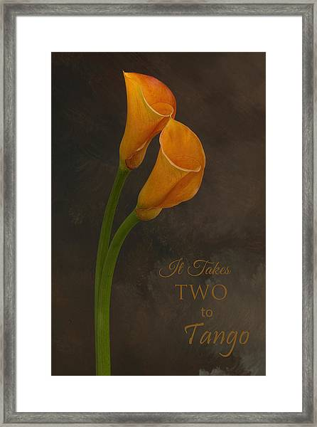 It Takes Two To Tango With Message Framed Print