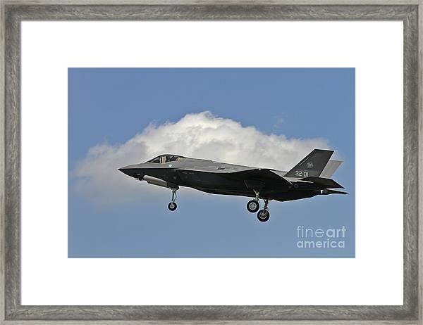 Italian Air Force F-35 Lightning II First Flight Framed Print