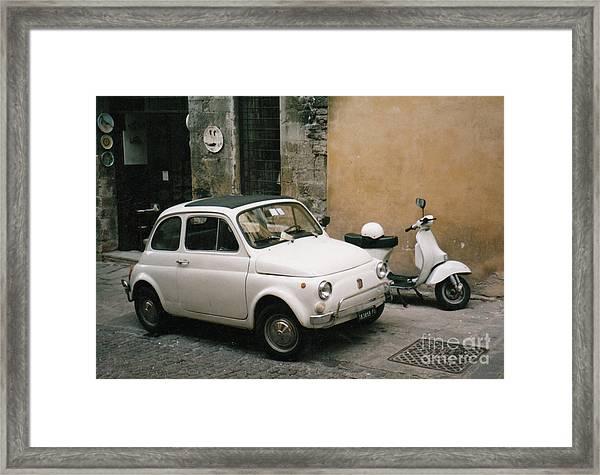 Italian Classic Commute  Framed Print