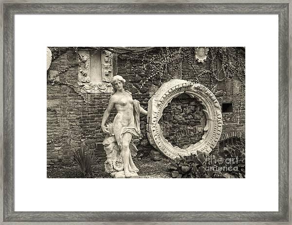 Italian Garden Framed Print