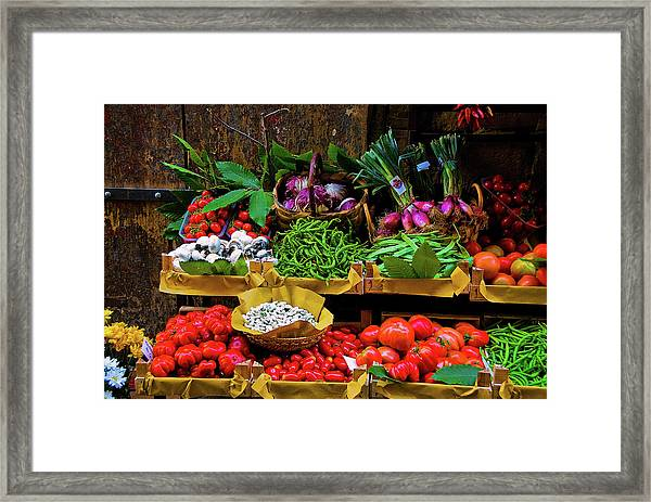 Italian Vegetables  Framed Print