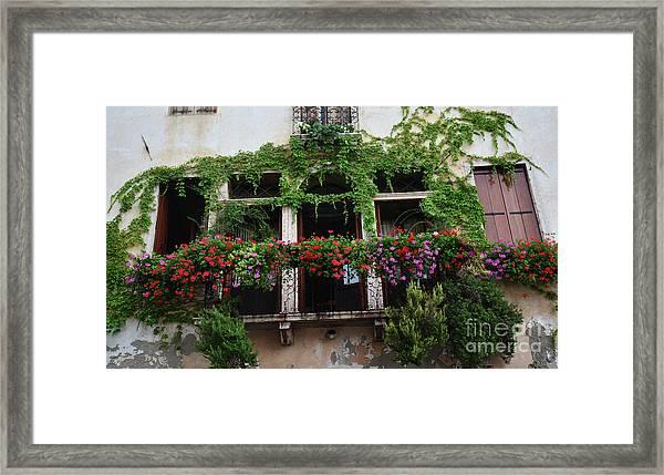 Italy Veneto Marostica Main Square Framed Print