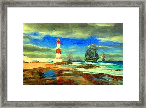 Itapua Lighthouse 1 Framed Print