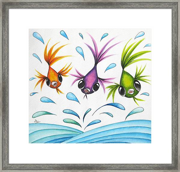 It's A Fun World Out There Framed Print