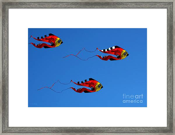 It's A Kite Kind Of Day Framed Print