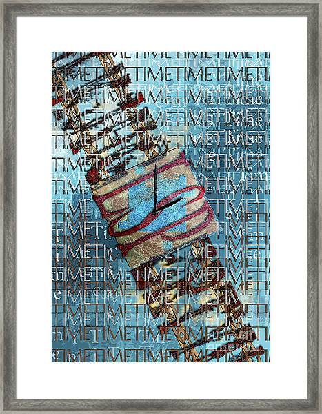 Its All About Time Framed Print